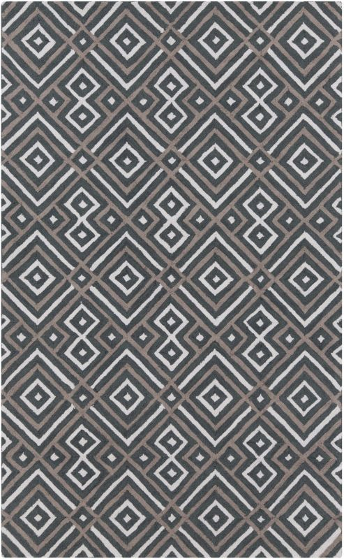 Surya BNT-7698 Brentwood Hand Woven Polyester Rug Gray 3 1/2 x 5 1/2