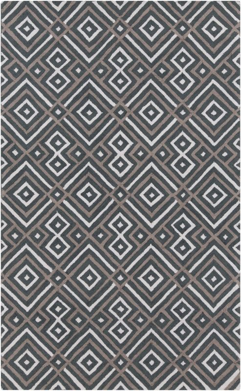 Surya BNT-7698 Brentwood Hand Woven Polyester Rug Gray 5 x 8 Home