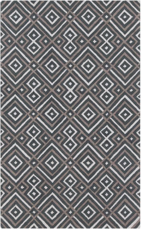 Surya BNT-7698 Brentwood Hand Woven Polyester Rug Gray 8 x 10 Home