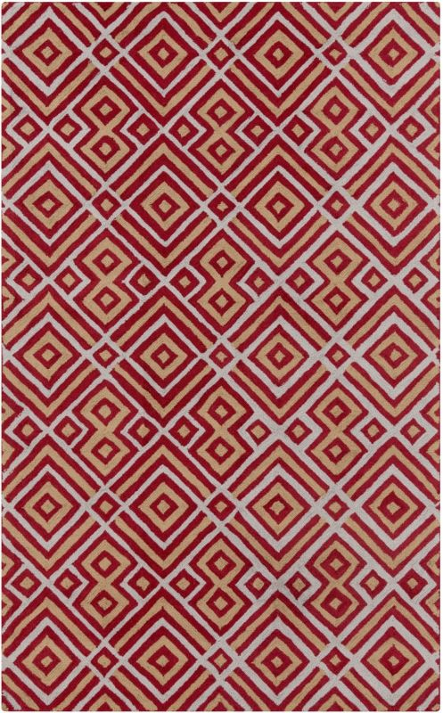 Surya BNT-7699 Brentwood Hand Woven Polyester Rug Red 3 1/2 x 5 1/2