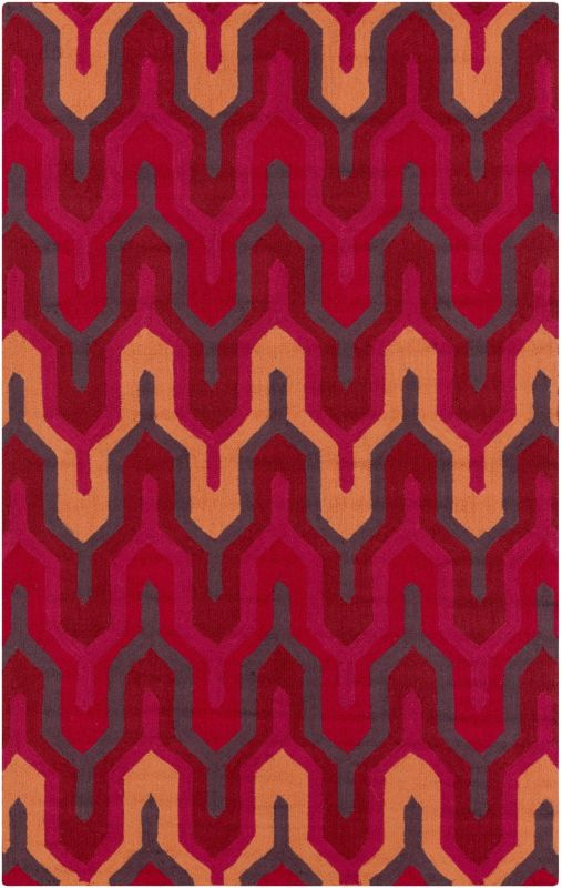 Surya BNT-7701 Brentwood Hand Woven Polyester Rug Red 2 x 2 1/2 Home