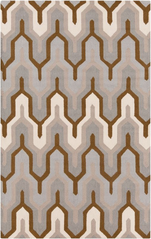 Surya BNT-7702 Brentwood Hand Woven Polyester Rug Gray 2 x 2 1/2 Home