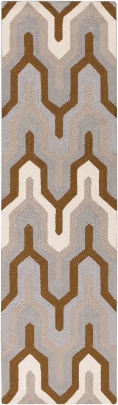 Surya BNT-7702 Brentwood Hand Woven Polyester Rug Gray 2 x 8 Home