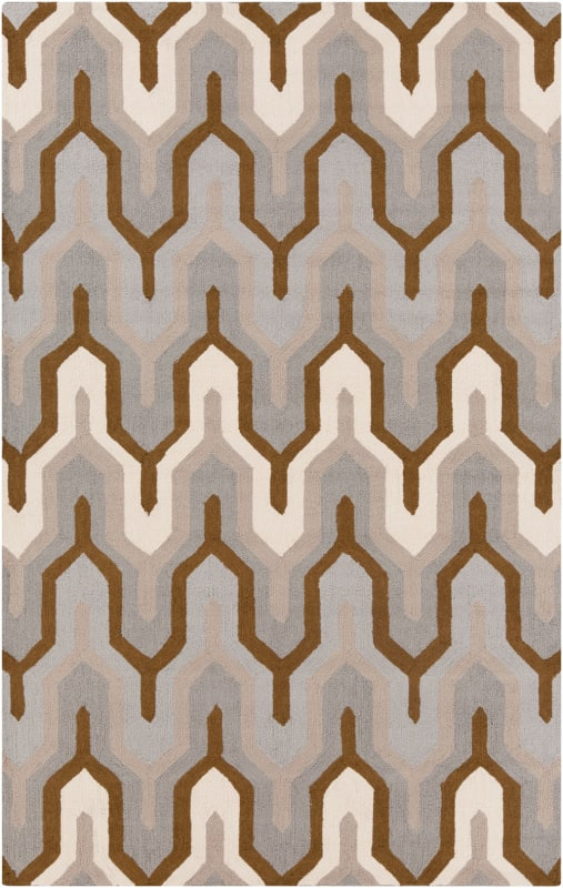 Surya BNT-7702 Brentwood Hand Woven Polyester Rug Gray 5 x 8 Home