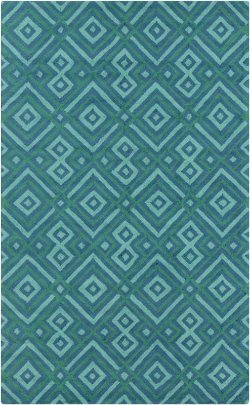 Surya BNT-7704 Brentwood Hand Woven Polyester Rug Blue 5 x 8 Home