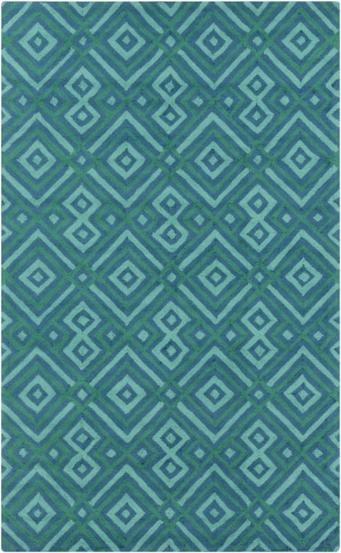 Surya BNT-7704 Brentwood Hand Woven Polyester Rug Blue 8 x 10 Home