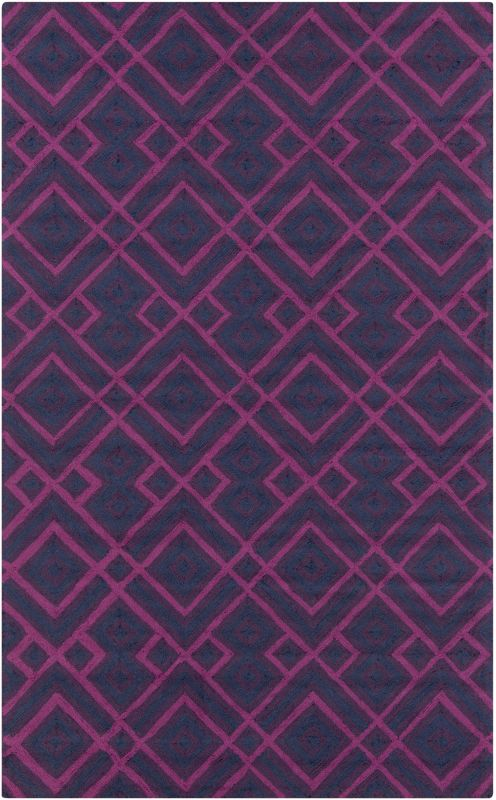 Surya BNT-7705 Brentwood Hand Woven Polyester Rug Blue 2 x 2 1/2 Home