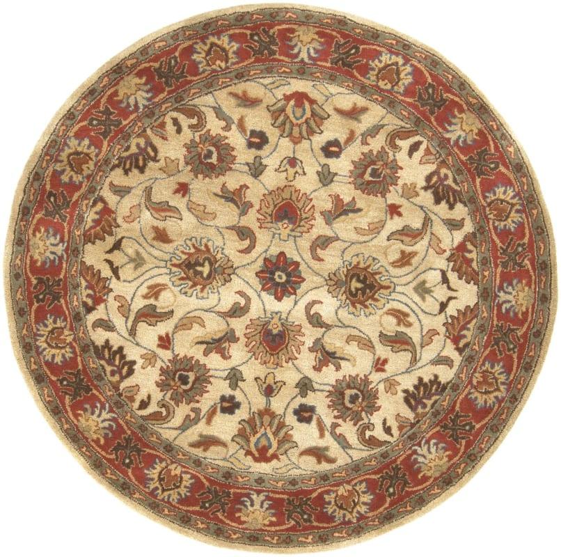 Surya CAE-1001 Caesar Hand Tufted Wool Rug Brown 4 Round Home Decor