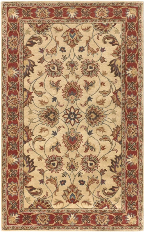 Surya CAE-1001 Caesar Hand Tufted Wool Rug Brown 7 1/2 x 9 1/2 Home
