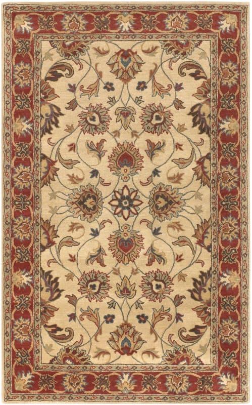 Surya CAE-1001 Caesar Hand Tufted Wool Rug Brown 8 x 10 Oval Home