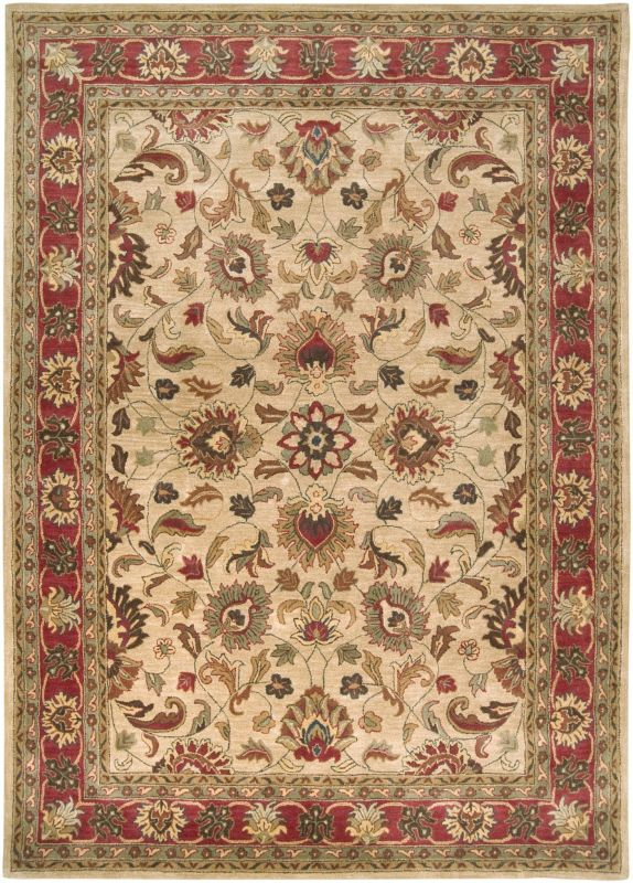 Surya CAE-1001 Caesar Hand Tufted Wool Rug Brown 8 x 11 Home Decor
