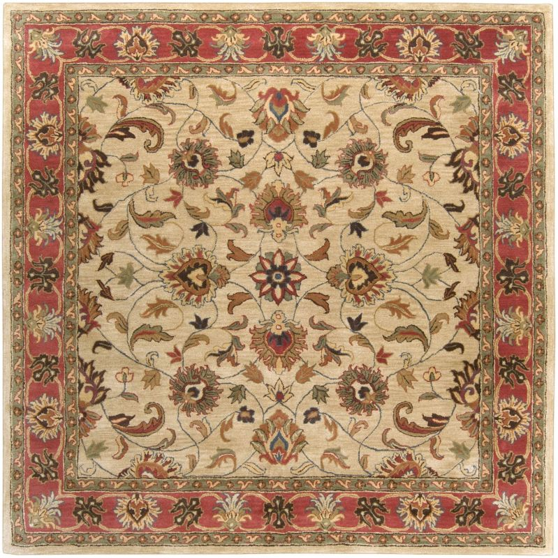 Surya CAE-1001 Caesar Hand Tufted Wool Rug Brown 8 Square Home Decor