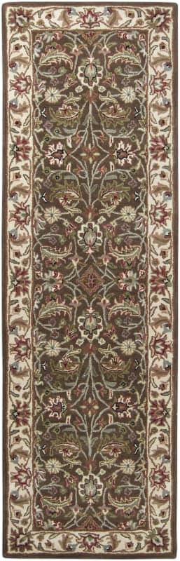 Surya CAE-1003 Caesar Hand Tufted Wool Rug Brown 2 1/2 x 8 Home Decor