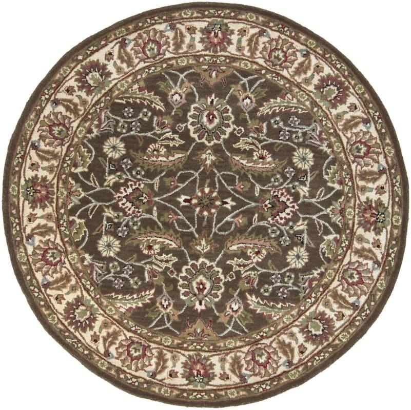 Surya CAE-1003 Caesar Hand Tufted Wool Rug Brown 4 Round Home Decor
