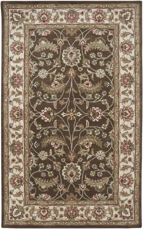 Surya CAE-1003 Caesar Hand Tufted Wool Rug Brown 5 x 8 Home Decor Rugs
