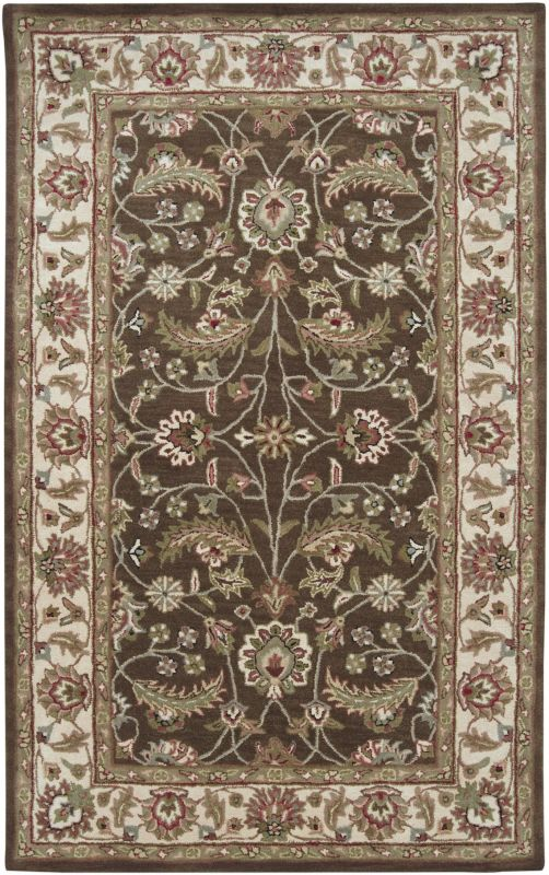 Surya CAE-1003 Caesar Hand Tufted Wool Rug Brown 6 Square Home Decor