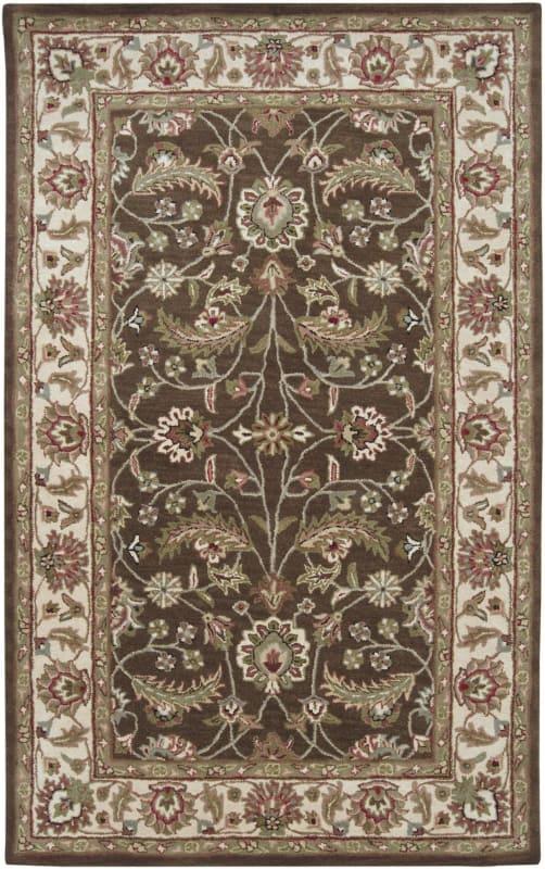 Surya CAE-1003 Caesar Hand Tufted Wool Rug Brown 8 x 10 Oval Home