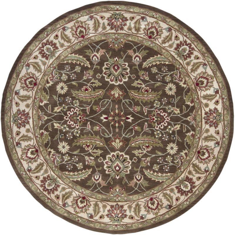 Surya CAE-1003 Caesar Hand Tufted Wool Rug Brown 8 Round Home Decor