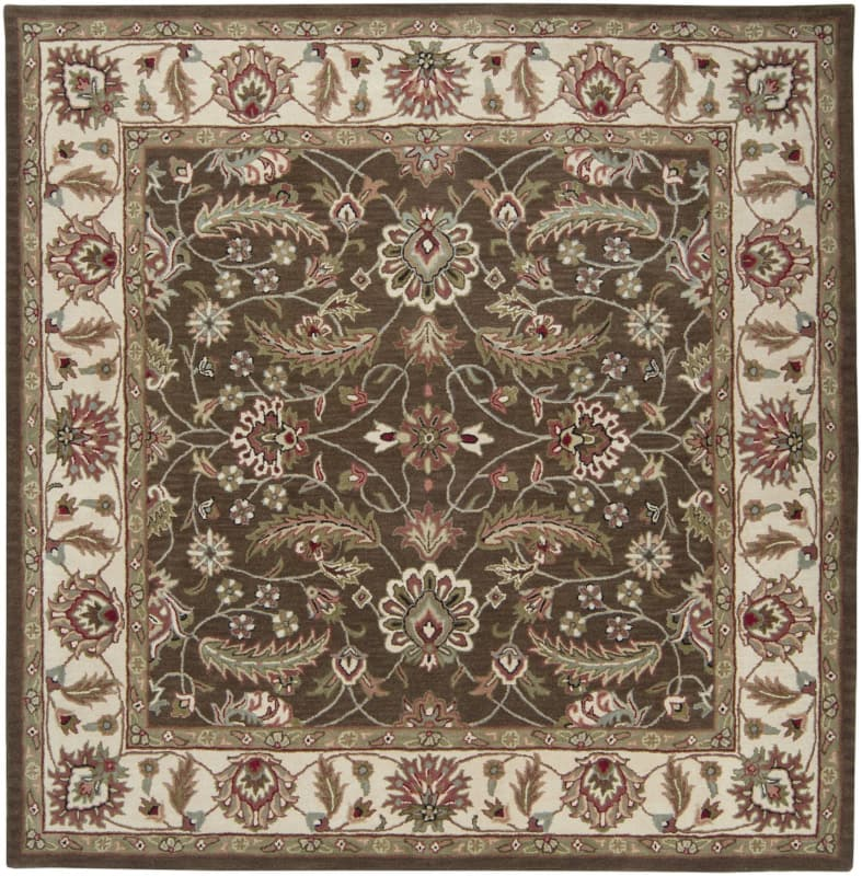 Surya CAE-1003 Caesar Hand Tufted Wool Rug Brown 8 Square Home Decor
