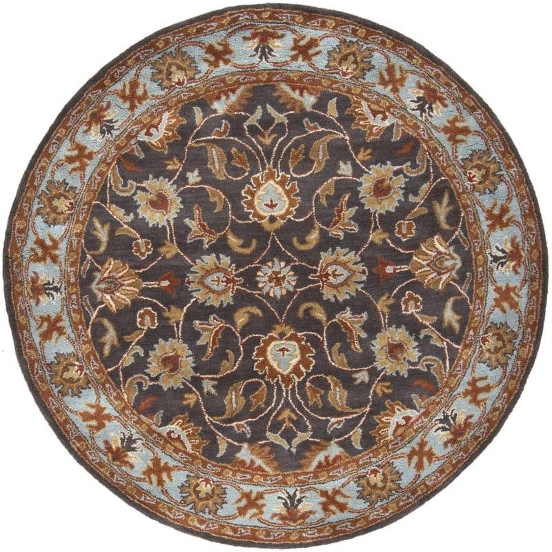 Surya CAE-1004 Caesar Hand Tufted Wool Rug Gray 6 Round Home Decor