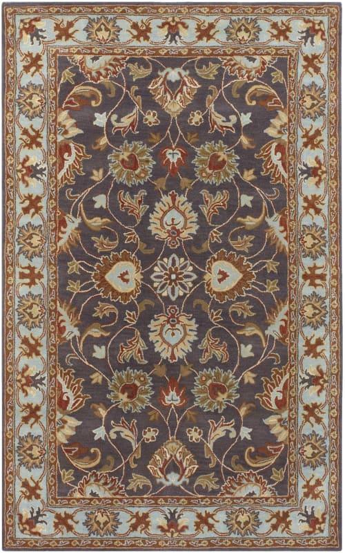 Surya CAE-1004 Caesar Hand Tufted Wool Rug Gray 7 1/2 x 9 1/2 Home