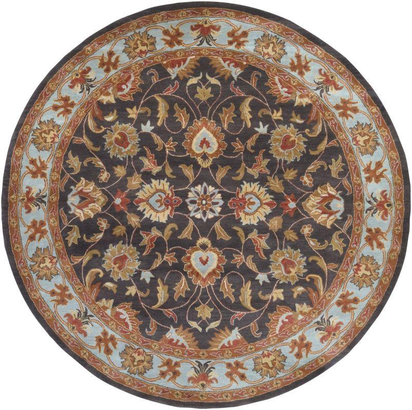 Surya CAE-1004 Caesar Hand Tufted Wool Rug Gray 8 Round Home Decor