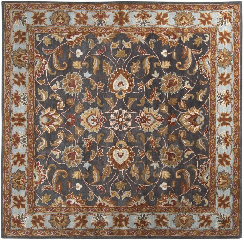 Surya CAE-1004 Caesar Hand Tufted Wool Rug Gray 8 Square Home Decor