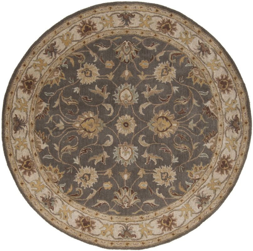 Surya CAE-1005 Caesar Hand Tufted Wool Rug Gray 6 Round Home Decor