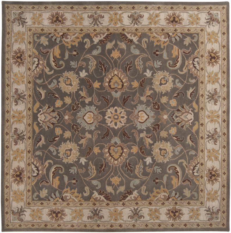 Surya CAE-1005 Caesar Hand Tufted Wool Rug Gray 8 Square Home Decor