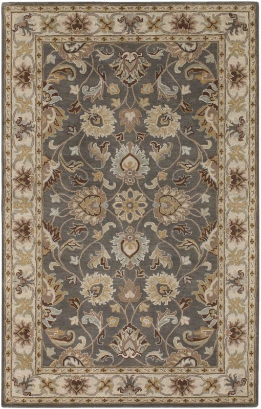 Surya CAE-1005 Caesar Hand Tufted Wool Rug Gray 9 x 12 Home Decor Rugs