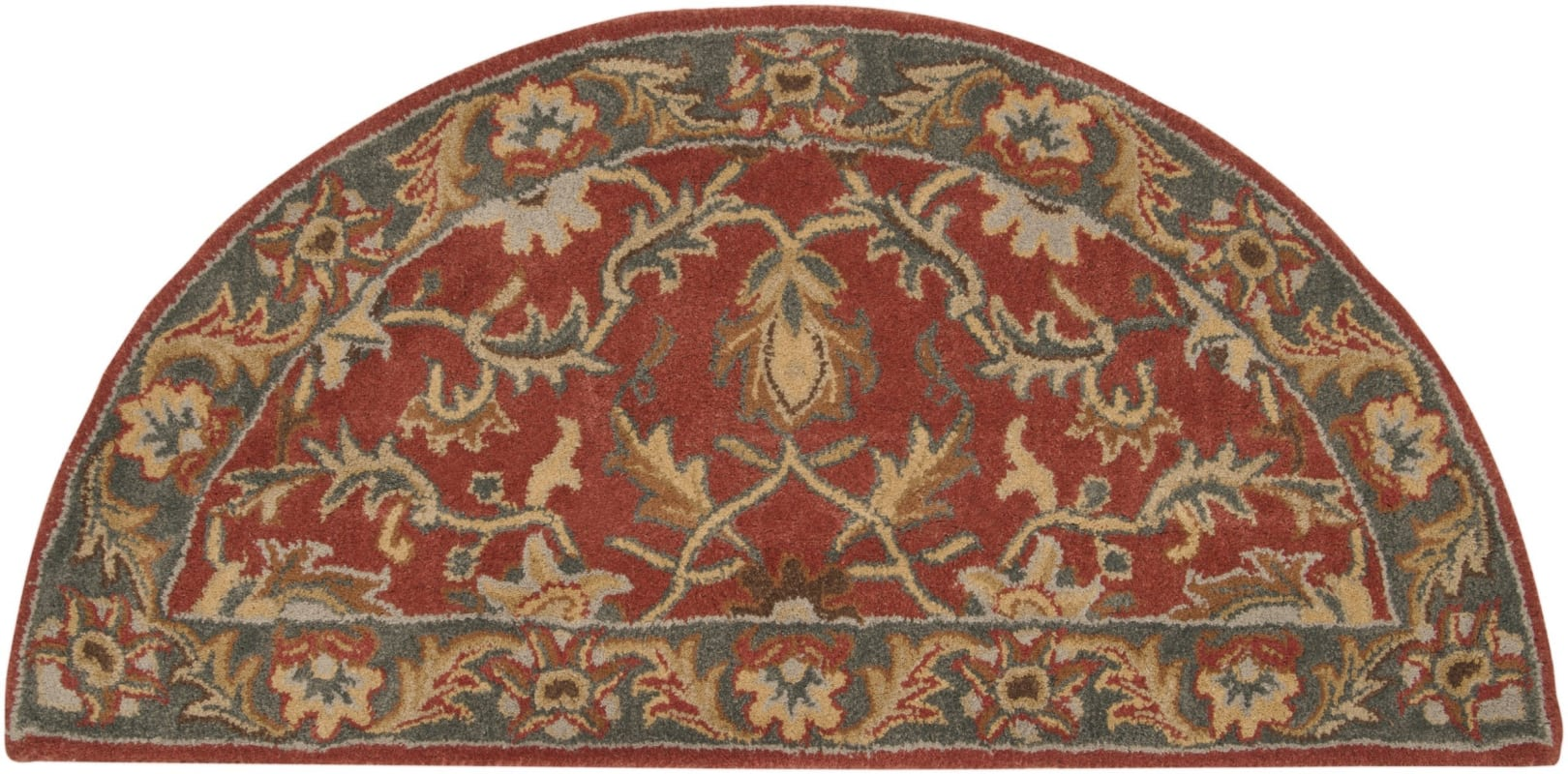 Surya CAE-1007 Caesar Hand Tufted Wool Rug Red 2 x 4 Hearth Home Decor
