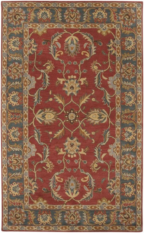 Surya CAE-1007 Caesar Hand Tufted Wool Rug Red 5 x 8 Home Decor Rugs