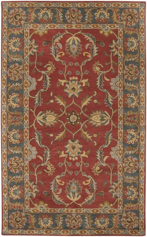 Surya CAE-1007 Caesar Hand Tufted Wool Rug Red 6 Square Home Decor