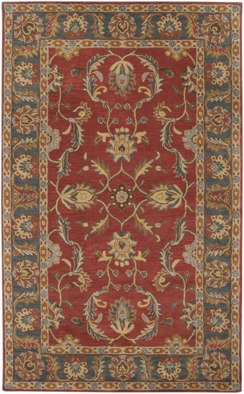 Surya CAE-1007 Caesar Hand Tufted Wool Rug Red 7 1/2 x 9 1/2 Home