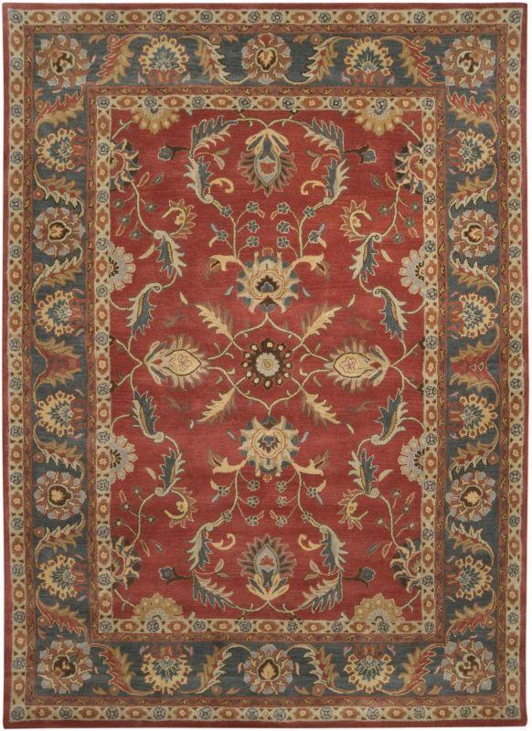 Surya CAE-1007 Caesar Hand Tufted Wool Rug Red 8 x 11 Home Decor Rugs