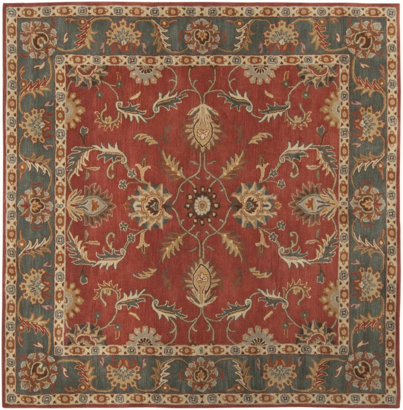 Surya CAE-1007 Caesar Hand Tufted Wool Rug Red 8 Square Home Decor