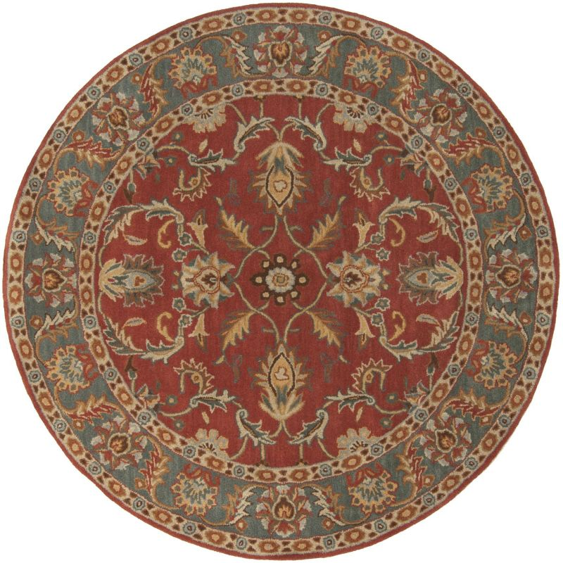 Surya CAE-1007 Caesar Hand Tufted Wool Rug Red 10 Round Home Decor