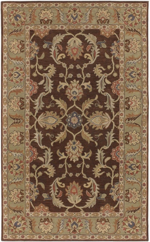 Surya CAE-1009 Caesar Hand Tufted Wool Rug Brown 5 x 8 Home Decor Rugs