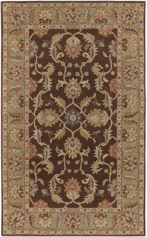 Surya CAE-1009 Caesar Hand Tufted Wool Rug Brown 8 x 10 Oval Home
