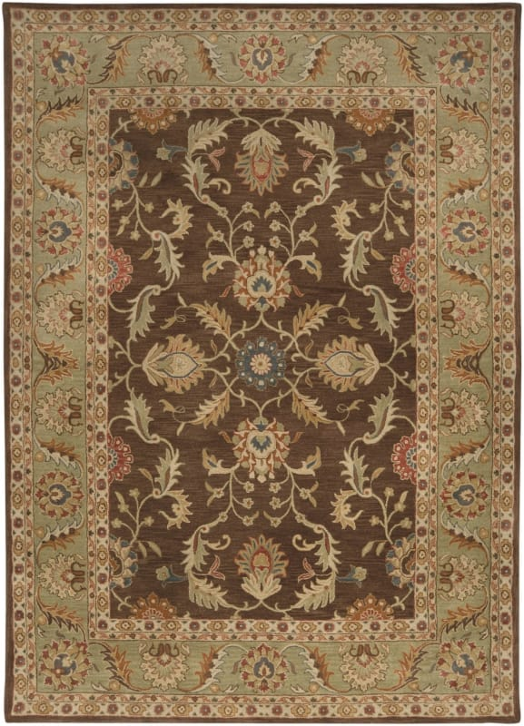 Surya CAE-1009 Caesar Hand Tufted Wool Rug Brown 8 x 11 Home Decor