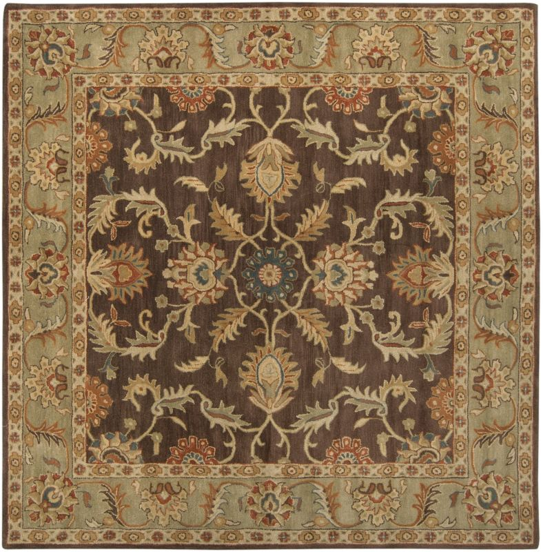 Surya CAE-1009 Caesar Hand Tufted Wool Rug Brown 8 Square Home Decor