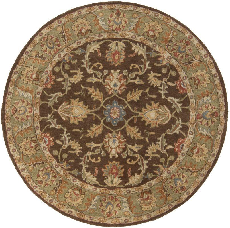 Surya CAE-1009 Caesar Hand Tufted Wool Rug Brown 10 Round Home Decor