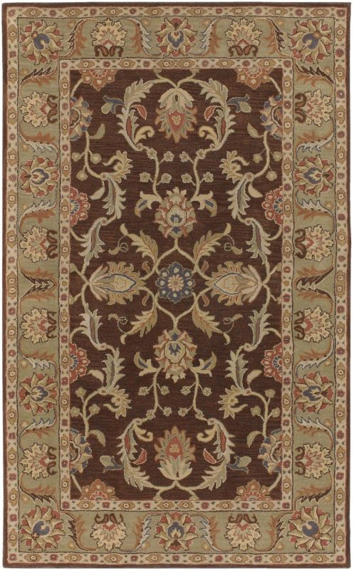 Surya CAE-1009 Caesar Hand Tufted Wool Rug Brown 10 Square Home Decor