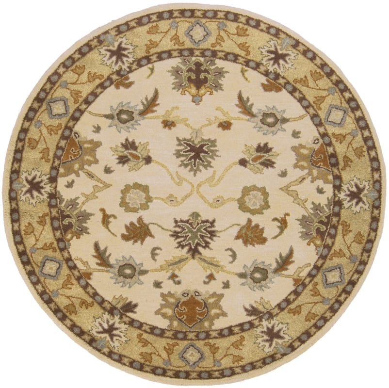 Surya CAE-1010 Caesar Hand Tufted Wool Rug Off-White 4 Round Home