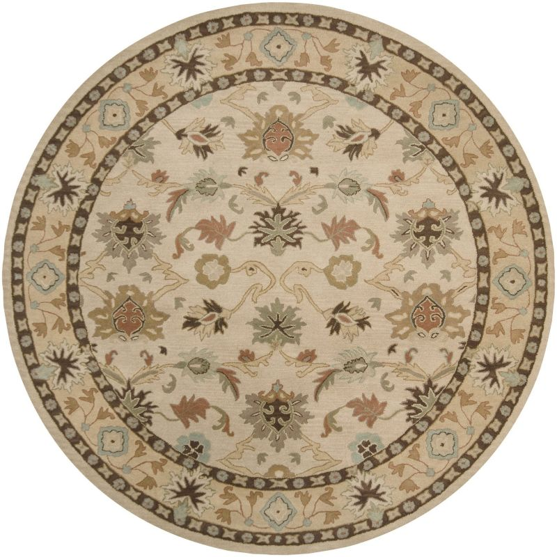 Surya CAE-1010 Caesar Hand Tufted Wool Rug Off-White 8 Round Home