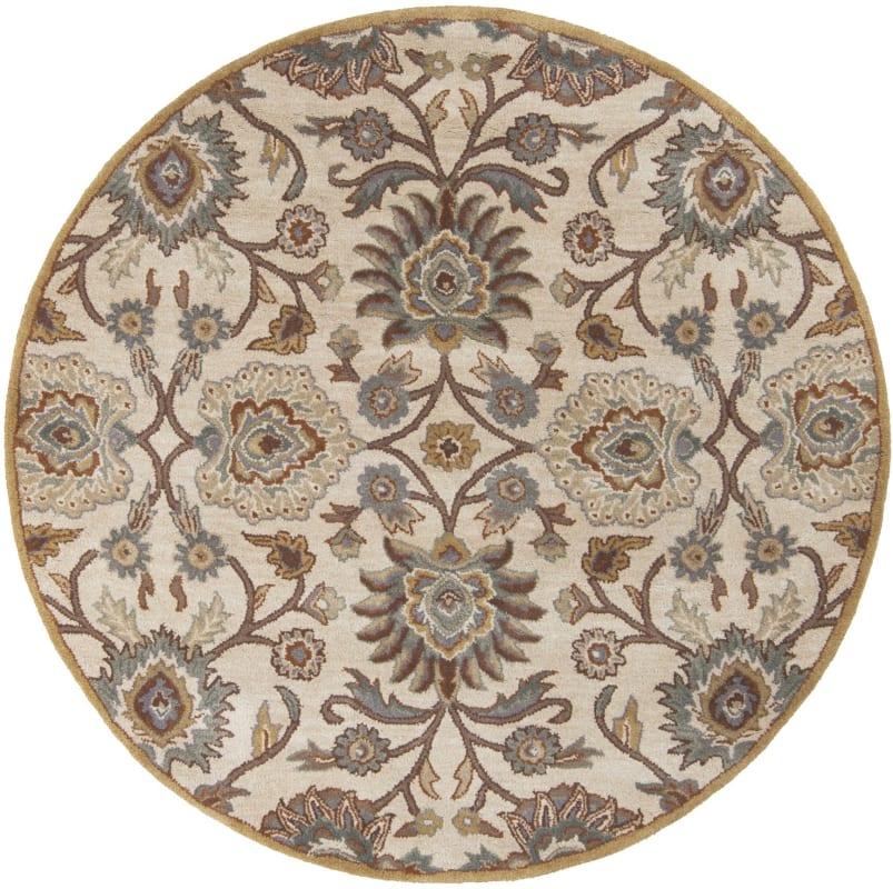 Surya CAE-1012 Caesar Hand Tufted Wool Rug Gray 4 Round Home Decor