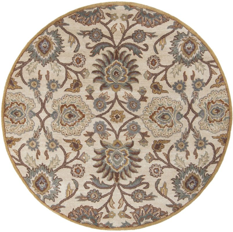 Surya CAE-1012 Caesar Hand Tufted Wool Rug Gray 6 Round Home Decor
