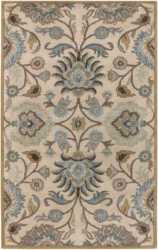 Surya CAE-1012 Caesar Hand Tufted Wool Rug Gray 7 1/2 x 9 1/2 Home