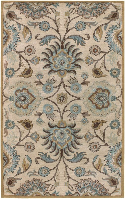 Surya CAE-1012 Caesar Hand Tufted Wool Rug Gray 8 x 10 Oval Home Decor