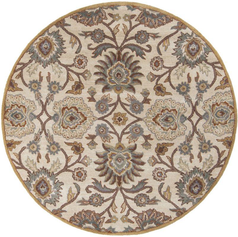 Surya CAE-1012 Caesar Hand Tufted Wool Rug Gray 10 Round Home Decor
